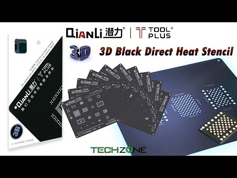 QianLi ToolPlus 3D Black Stencil For IPhone IPad BGA IC Chip Reballing