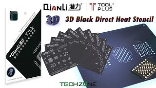 QianLi ToolPlus 3D Black Stencil for iPhone iPad BGA IC Chip Reballing