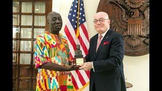 Ambassador Jackson honors Mr. Yaw Ofori Debra with MLK 2018 Award