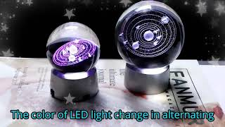 Crystal solar system gift ball