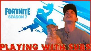 Vamos obter 1400 SUBS temporada Fortnite 7 Lets GO-um jogador decente-(chillest cara sempre)
