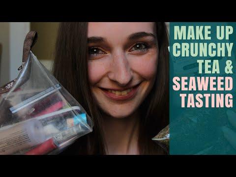 Binaural ASMR: Make up, Tea & Roasted Seaweed Snacks