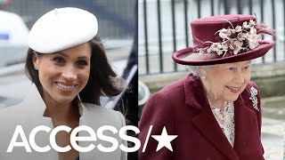 Meghan Markle Makes Her First Official Appearance With The Queen | Access