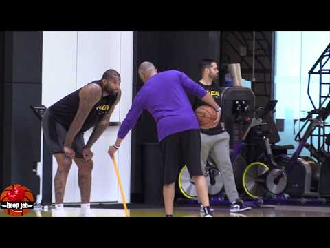 DeMarcus Cousins Full ACL Rehab Handles & Shooting Workout Lakers Practice HoopJab NBA