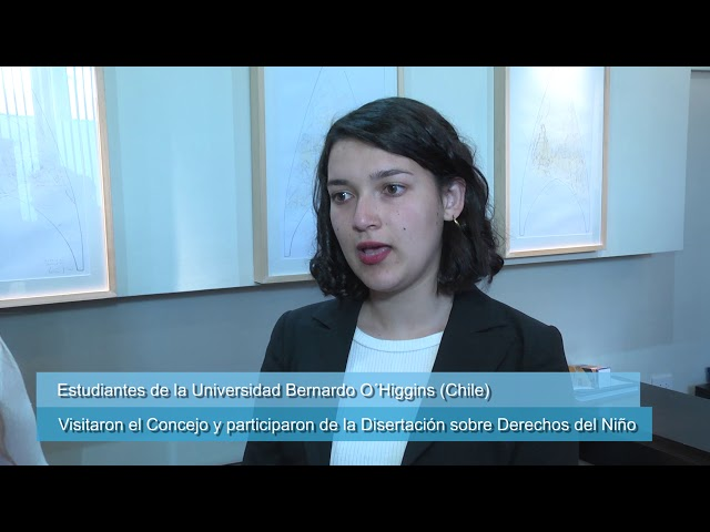Visita de estudiantes de la Universidad Bernardo O´Higgins al HCD