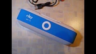 #NBY-18 _ Bluetooth FM Mp3 Aux Колонка з алиэкспресс |розпакування & тестування|