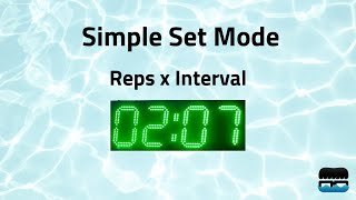 Swimnerd Pace Clock: Simple Set Mode
