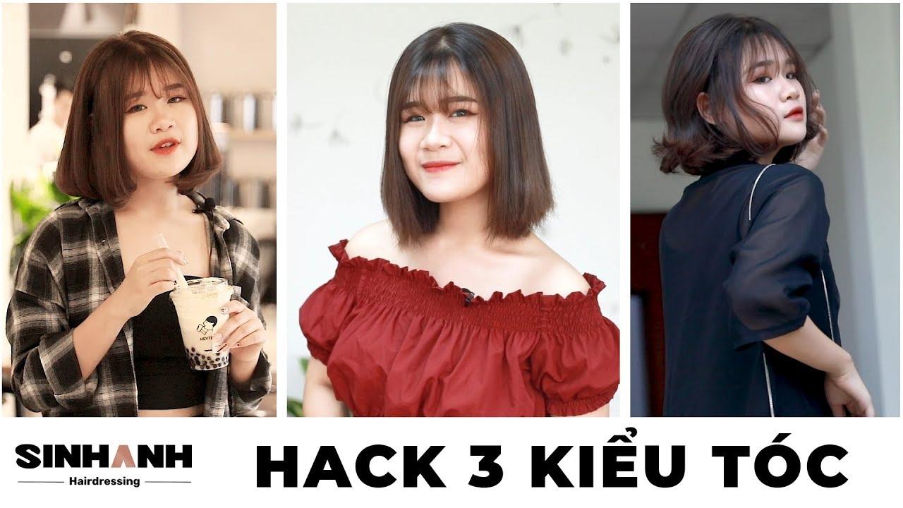 🍃 #3 CÁCH ĐỂ HACK TÓC NGẮN ẤN TƯỢNG      Sinh Anh Hair Salon Group