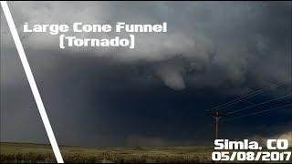 Large Cone Funnel/Tornado (P2) - North of Simla, CO - 05/08/2017