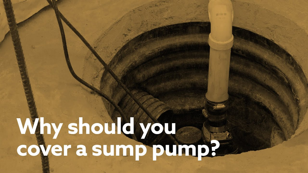 how to cover a sump pump in the basement