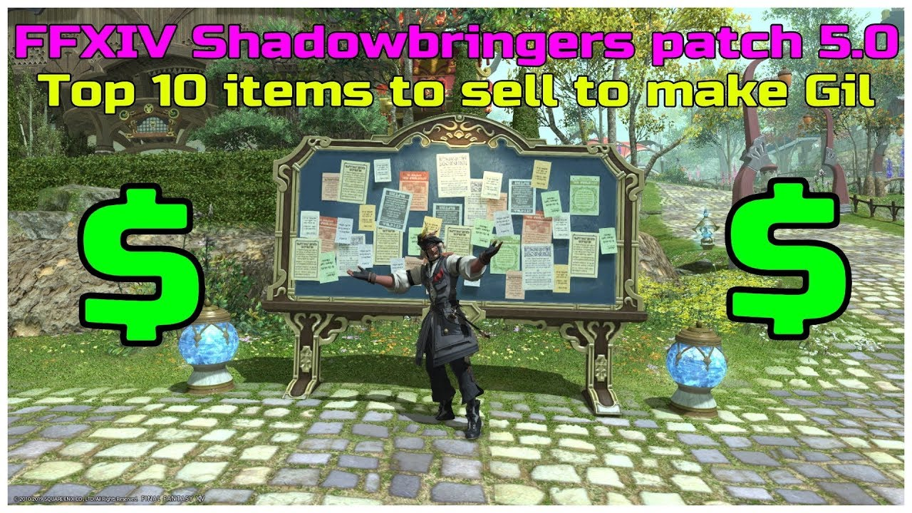 Top 10 items to sell to make Gil in shadowbringers as of patch 5 0