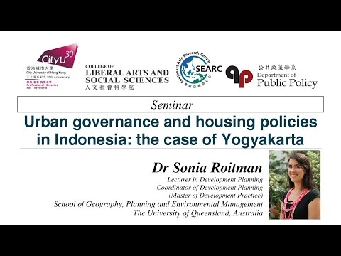 Urban governance and housing policies in Indonesia: the case of Yogyakarta