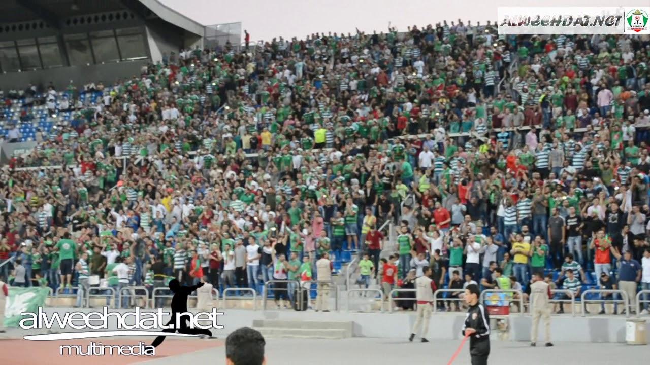 جمهور الوحدات في مباراة الجزيرة نهائي الدرع 2017 2018