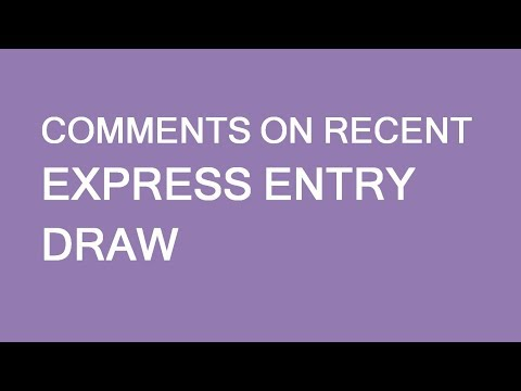 Recent Express Entry Draws And Immigration To Canada Pathway