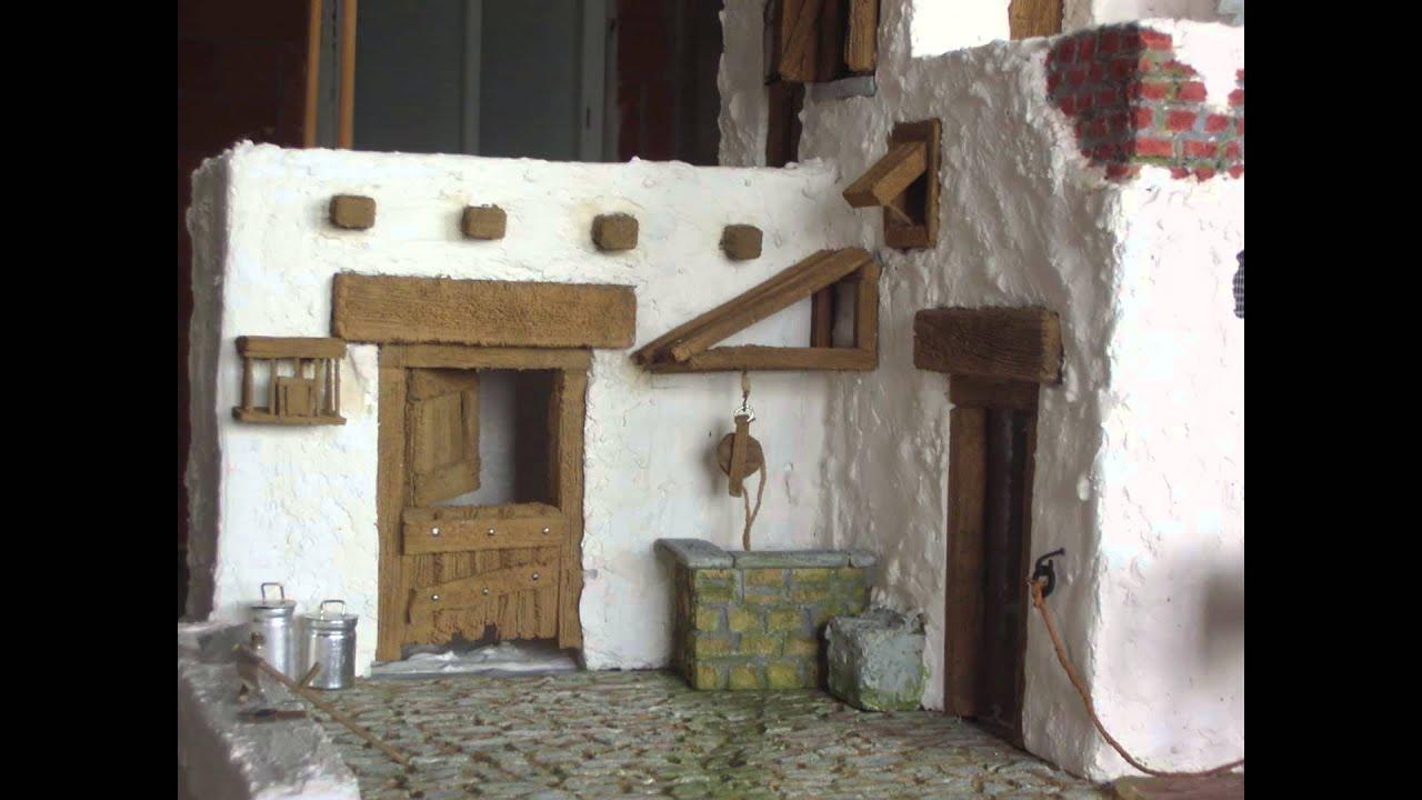 Construyendo una casa de poroexpan en el bel n para - Casas para belenes hechas a mano ...