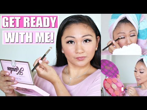 GRWM | I Want Kandee Too Faced Palette, It Bye Bye Lines Foundation, Tarte Blush Book