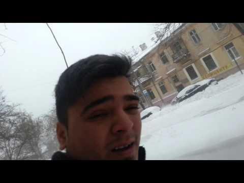 Heavy snowfall in Odessa Ukraine
