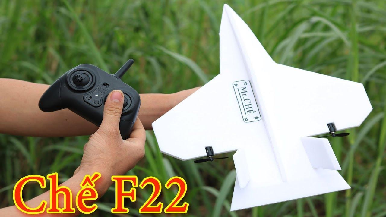 Chế Máy Bay F22 Mini Điều Khiển Từ Xa