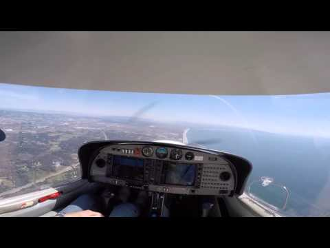 Palo Alto (PAO) to Salinas (SNS) in a Diamond DA40