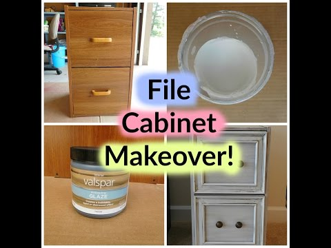 DIY File Cabinet Vintage Makeover