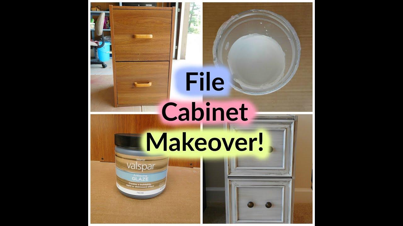 DIY File Cabinet Vintage Makeover - YouTube