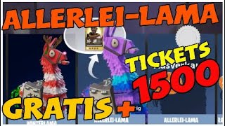 FORTNITE ALLERLEI-LAMA FREE ONLY TODAY 1500 snowflake tickets FREE