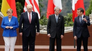 Are tension rising at the G-7 summit?