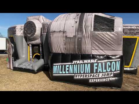 Lisa St. Regis Urban Blog - Own Your Own Millenium Falcon Bounce House!