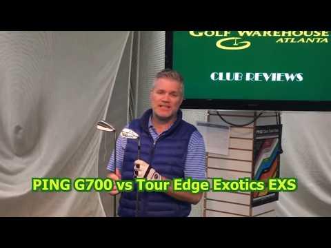GOLF WAREHOUSE ATLANTA   PING G700 IRON VS TOUR EDGE EXOTICS EXS IRON WITH FULL GOLF CLUB REVIEW