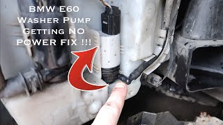 BMW E60 E61 E63 Windscreen Washer Pump Getting No Power FIX !!!