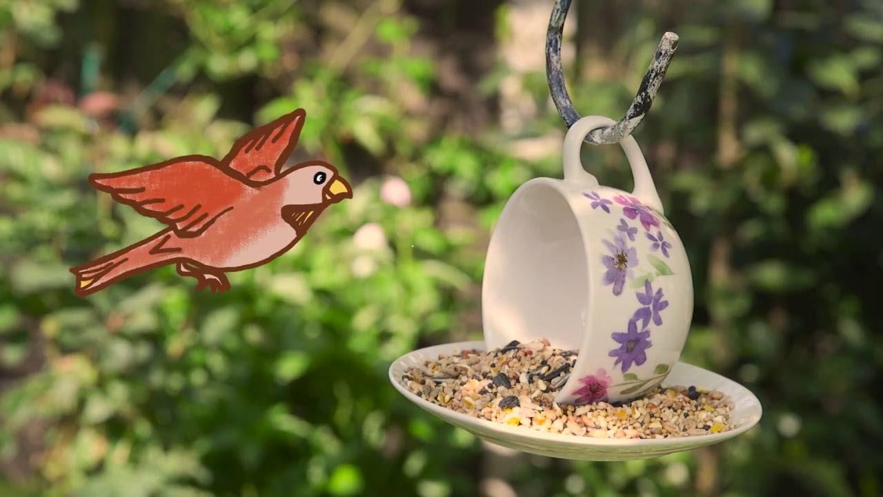 garden hacks how to make a bird feeder youtube. Black Bedroom Furniture Sets. Home Design Ideas