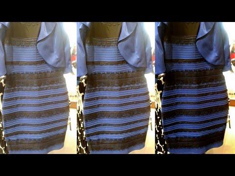 Kleid blau schwarz weib gold psyche