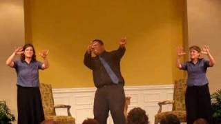 """I Bowed on my Knees"" Oklahoma Baptist College Deaf Choir - DBFA 7.1.10"