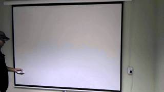 """80X60"""" Motorized 100"""" Projector Screen"""