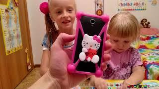 ДЕТСКИЙ чехол для телефона и часы с Китая/распаковка и обзор/видео для детей от Мунсерят