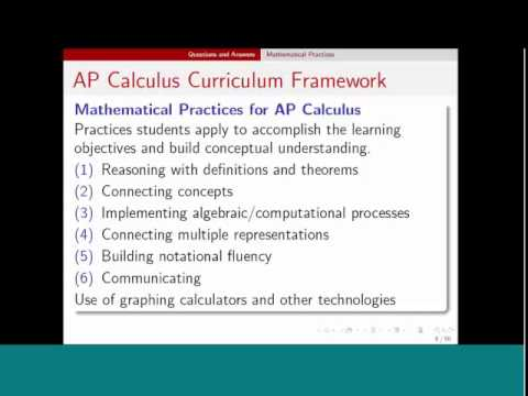 Ask Steve: The AP Calculus Redesign (Episode 1, Part 1)