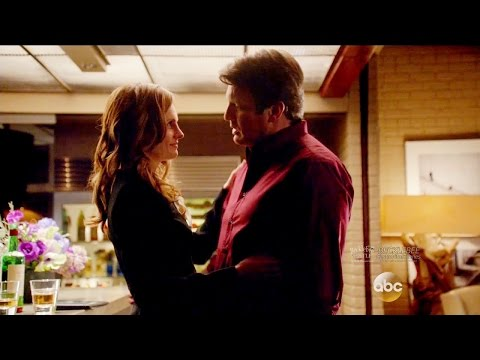 "Castle 8x17  - Castle Beckett Kiss  - She Gets her Wish From Her Man  ""Death Wish"""