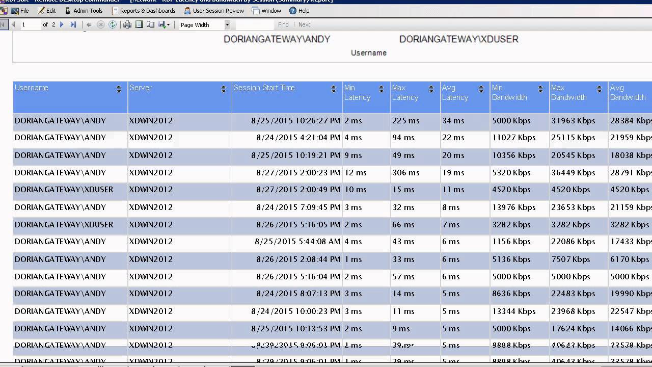 Tracking RDP Latency and Connection Quality With Remote Desktop Commander