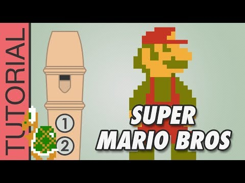 Super Mario Bros - Recorder Notes Tutorial