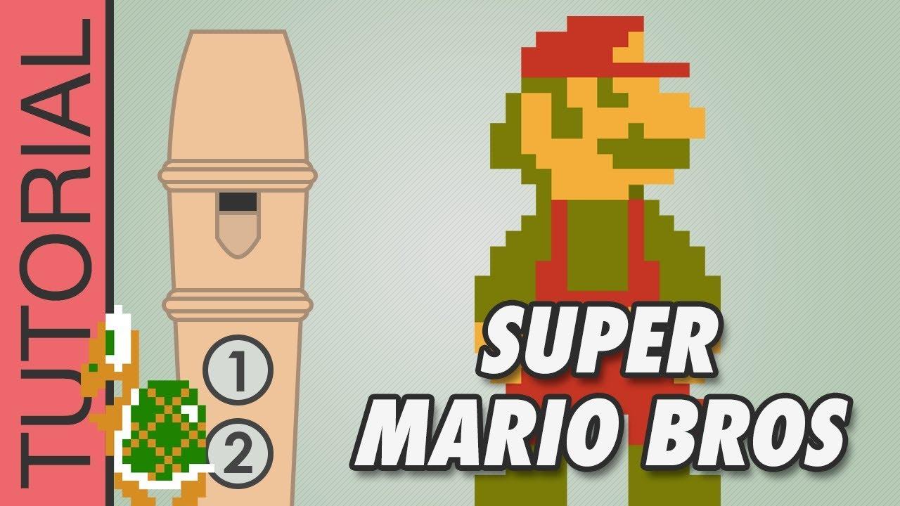Super Mario Bros - Recorder Notes Tutorial