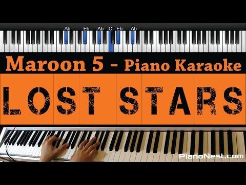 Maroon 5 / Adam Levine - Lost Stars - Piano Karaoke / Sing Along