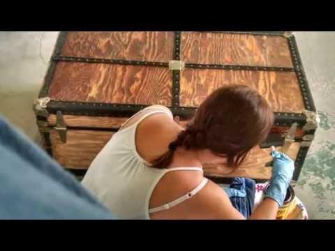 DIY steamer trunk restoration project idea