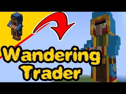Minecraft Wandering Trader - Statue Build, PS4, Xbox, PC, Switch, Pocket edition