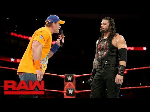 "Thumbnail: John Cena gives Roman Reigns a lesson in ""failure"": Raw, Sept. 11, 2017"