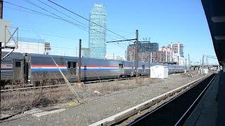Amtrak Silver Meteor [97] w/ 5 Viewliner II Baggage Cars @ LIC, Queens