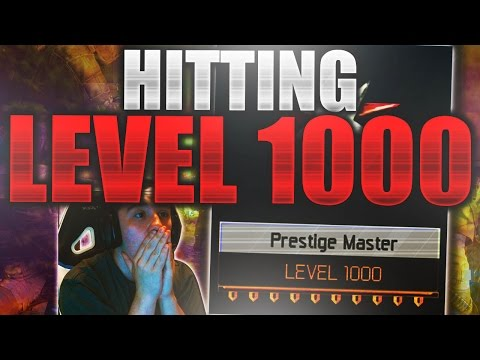 HITTING LEVEL 1000 in BLACK OPS 3 LIVE! BO3 LVL 1000 REACTION! Call of Duty BO3 Live Stream Gameplay