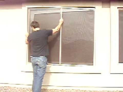 Quality Aluminum Solar Screens Installation - How to Install a Replacement  Window Screen