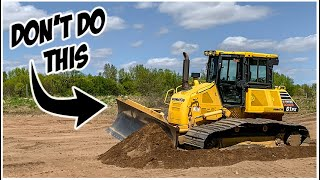 What NOT to do in a Bulldozer   Heavy Equipment Operator