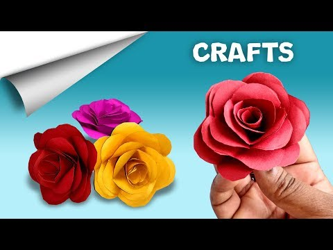 Rose Paper Craft 🌹 | DIY crafts | How to make minute crafts for kids | easy origami