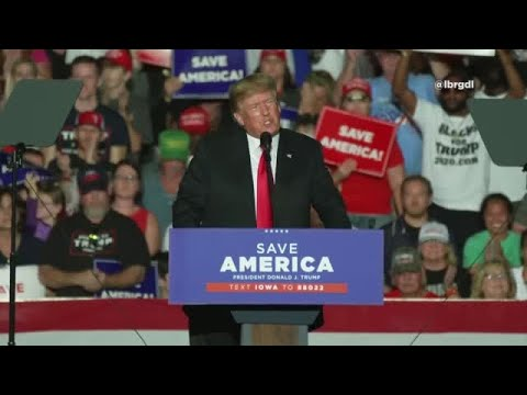 Trump speaks at rally in Des Moines, IA